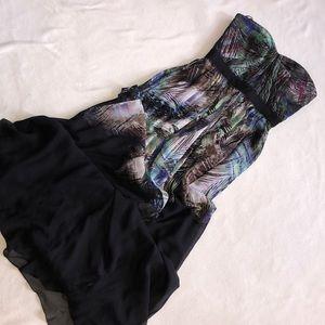 Strapless BCBG maxazria maxi dress